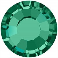 Rose hotfix strass termoadesivo senza piombo ss20 Emerald HF