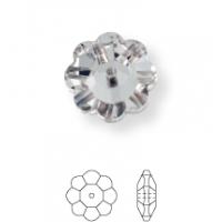 Flower pietre da cucire 1 foro 8mm Jet