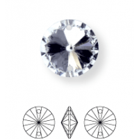 Rivoli pietre da cucire conico 2 fori 12mm Crystal F (BN011)