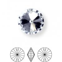 Rivoli pietre da cucire conico 2 fori 14mm Crystal F (BN011)