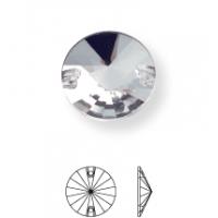 Rivoli pietre da cucire piatto 2 fori 8mm Black Diamond F