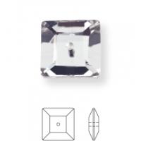 Square pietre da cucire 1 foro 8mm Crystal F