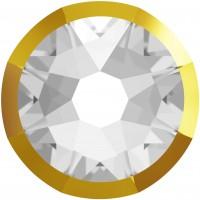 Xirius Rose Rimmed pietra strass ss16 Crystal & Dorado Z F