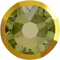 Xirius Rose Rimmed pietra strass ss34 Khaki & Dorado Z F