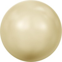 Crystal Round Pearl 6mm Crystal Light Gold Pearl