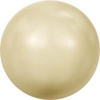 Crystal Pearls 5818 1/2drilled Round Pearl 6mm Crystal Light Gold Pearl