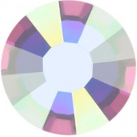 Rose strass termoadesivo ss16 Crystal AB HF