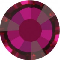 Rose strass termoadesivo ss10 Crystal Volcano HF