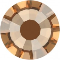 Rose strass termoadesivo ss34 Crystal Golden Shadow HF
