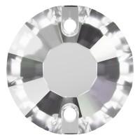 Rose pietre da cucire piatto 2 fori 12mm Crystal F
