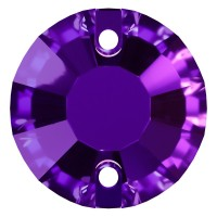 Rose pietre da cucire piatto 2 fori 12mm Purple Velvet F