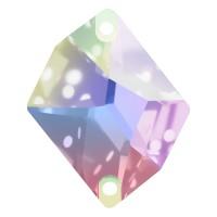 Cosmic pietre da cucire piatto 2 fori 27x21mm Crystal AB F