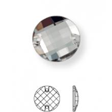 Chessboard pietre da cucire piatto 2 fori 14mm Crystal UF Transparent