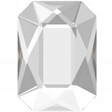 Emerald Cut pietra strass 14x10mm Crystal F