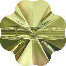 Clover Crystal Button 14mm Crystal Luminous Green