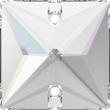 Square pietre da cucire 2 fori 22mm Crystal AB F