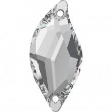 Diamond Leaf pietre da cucire 2 fori 30x14mm Crystal F