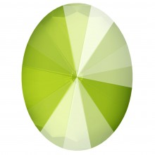 Oval Rivoli Fancy Stone 8x6mm Crystal Lime