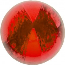 Glass Cabochon Tondo 6mm red white marbled