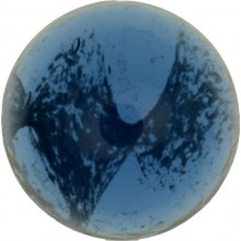 Glass Cabochon Tondo 16mm blue white marbled