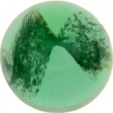 Glass Cabochon Tondo 18mm green white marbled