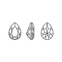 Maxima Pearshape 301 8x6mm Black Diamond F