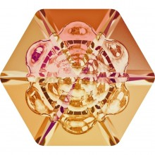 Vision Hexagon Fancy Stone 18mm Crystal Astral Pink F
