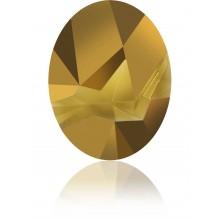 Kaputt Oval Fancy Stone parziale opacizzato 29x22.5mm Crystal Dorado F