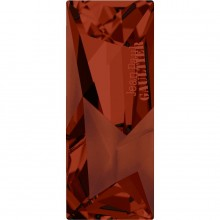 Kaputt Baguette Fancy Stone parziale opacizzato con intaglio 'Jean Paul Gaultier' 29x11.5mm Crystal Red Magma F