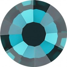 Rose strass termoadesivo ss4 Blue Zircon HF