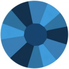 Rose strass termoadesivo ss10 Crystal Metallic Blue HF