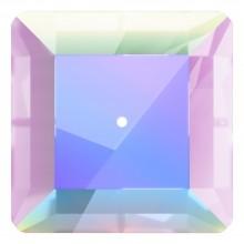 Square pietre da cucire 1 foro 12mm Crystal AB F