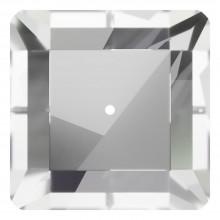 Square pietre da cucire 1 foro 10mm Crystal F
