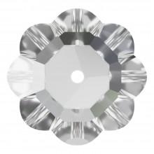 Flower pietre da cucire 1 foro 10mm Crystal F