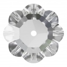 Flower pietre da cucire 1 foro 12mm Crystal F
