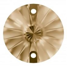Rivoli pietre da cucire piatto 2 fori 10mm Crystal Golden Shadow F