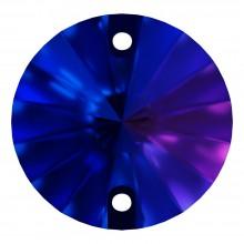 Rivoli pietre da cucire piatto 2 fori 10mm Capri Blue F