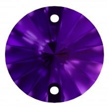 Rivoli pietre da cucire piatto 2 fori 10mm Purple Velvet F