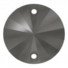 Rivoli pietre da cucire piatto 2 fori 10mm Jet Hematite