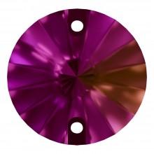 Rivoli pietre da cucire piatto 2 fori 12mm Fuchsia F