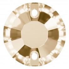 Rose pietre da cucire piatto 2 fori 12mm Crystal Golden Shadow F
