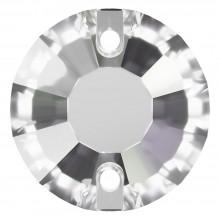 Rose pietre da cucire piatto 2 fori 12mm Crystal Transparent UF