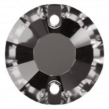 Rose pietre da cucire piatto 2 fori 10mm Black Diamond F