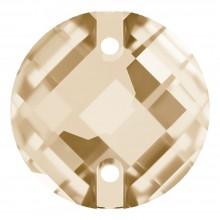 Chessboard pietre da cucire piatto 2 fori 14mm Crystal Golden Shadow F