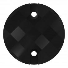 Chessboard pietre da cucire piatto 2 fori 12mm Jet