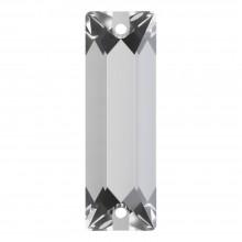 Cosmic Baguette pietre da cucire 2 fori 26x9mm Crystal F