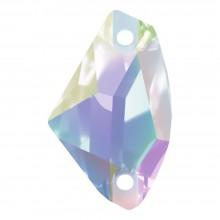 Galactic pietre da cucire piatto 2 fori 19x12mm Crystal AB F