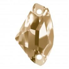 Galactic pietre da cucire piatto 2 fori 27x16mm Crystal Golden Shadow F