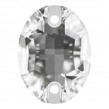 Oval pietre da cucire piatto 2 fori 18x13mm Crystal F