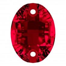 Oval pietre da cucire piatto 2 fori 24x17mm Siam F